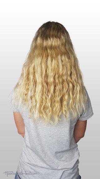 Wellige, krause Haare