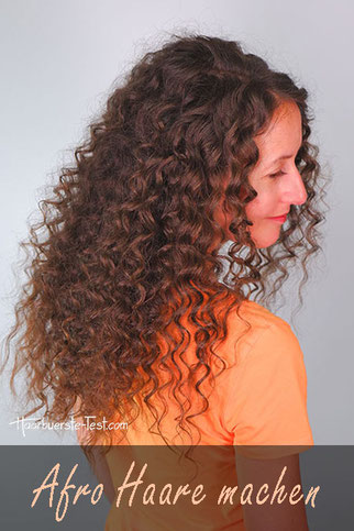 Afro Haare machen