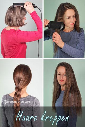haare kreppen, kreppeisen anwendung, haare kreppen anleitung, gekreppte haare