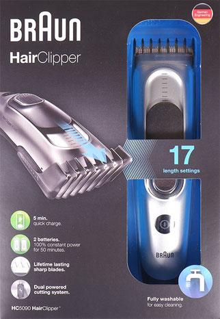 Braun HC5090 Haarschneider Verpackung
