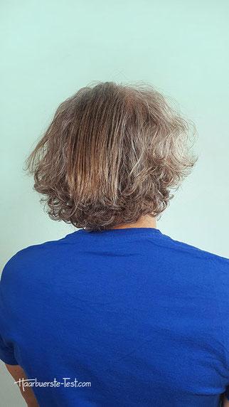 Naturlocken geglättet mit Haarglätter