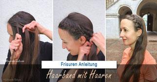 Haarband flechten Anleitung: Ein Französisches Haarband mit Haaren selber flechten