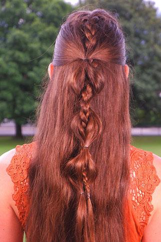 flechtfrisuren halboffen glatte haare