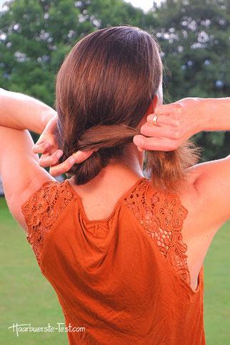 chignon lange haare