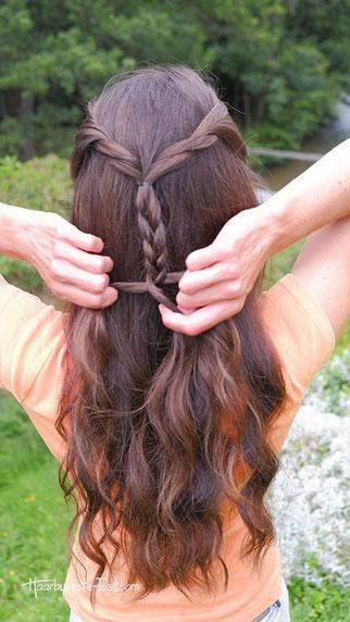 offene flechtfrisur, schöne frisur für lange haare