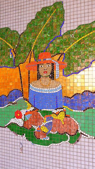 Mosaik Bild Warmbad Villach Bahnhof