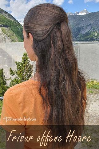 Einfache Frisur offene Haare