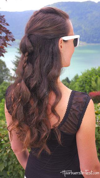 romantische flechtfrisur, romantische frisur lange haare