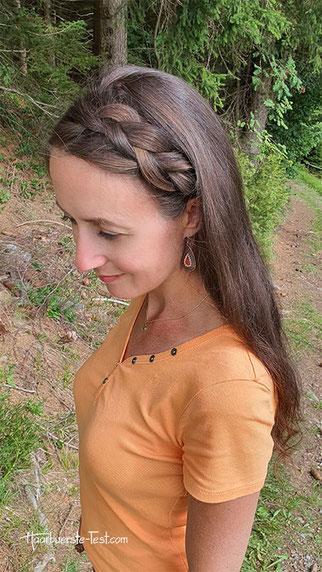 halboffene flechtfrisur lange haare, geflochtene frisuren lange haare