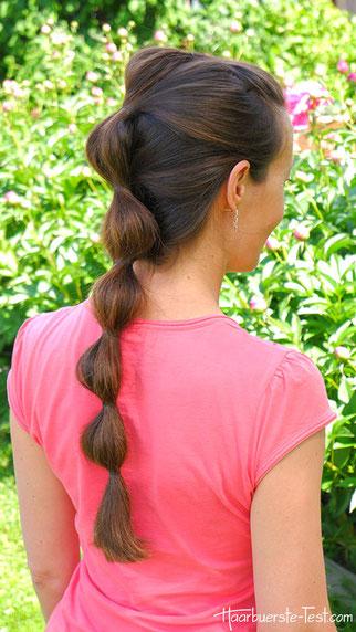 Wellenzopf, Wellenfrisur, einfache Frisur für lange Haare