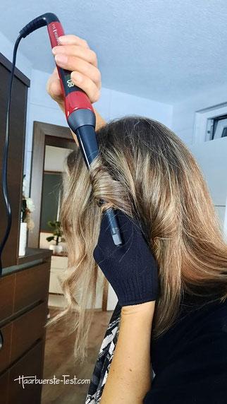 Remington Silk Lockenstab mittellange Haare.