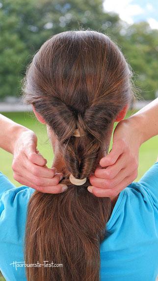 Wellen Zopf, Wellenfrisur, einfache Frisur für lange Haare