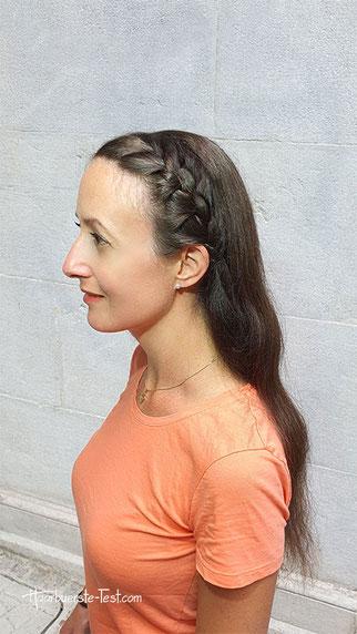 haarband mit haaren, französisches Haarband