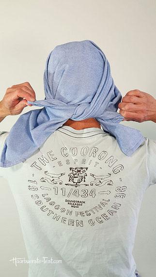 handtuch zum turban binden, handtuch turban wickeln anleitung