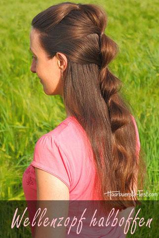 halboffene, einfache Frisur für lange Haare