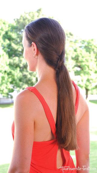 Pferdeschwanz festlich, Haar-Haargummi
