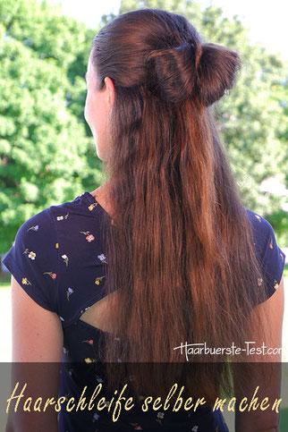 Haarschleife Anleitung, Haarschleife selber machen