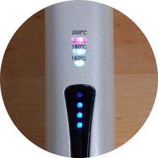 Mini Glätteisen mit Temperaturregelung