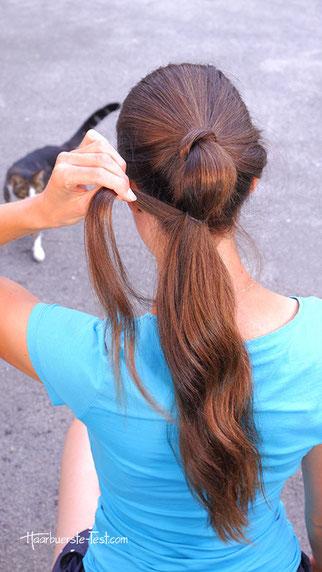 bubble ponytail anleitung, bubble tail machen