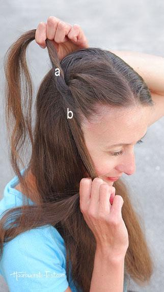 flechten mit zwei strähnen