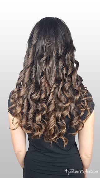 locken für lange haare, locken mit lockenstab lange haare