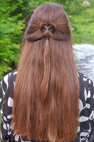 Herz Frisur, Herz Zopf, Herz Haare