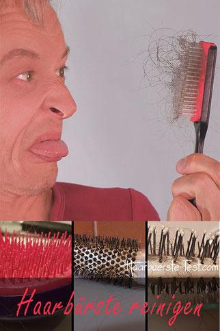 Haarbürste reinigen, Haarbürste sauber machen
