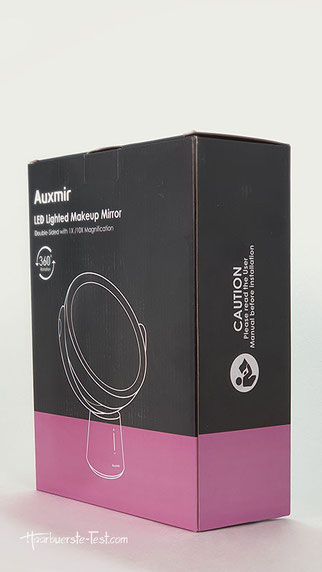 auxmir LED lighted makup mirror, auxmir spiegel
