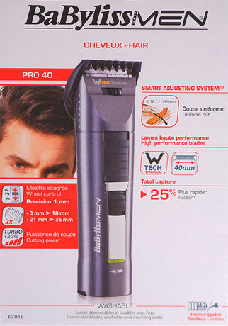Babyliss Pro 40 Verpackung