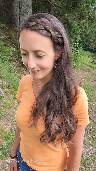 haarband lange haare, halboffen lange haare