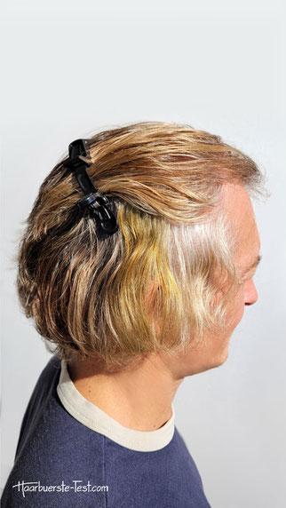 khadi mittelbraun graue Haare