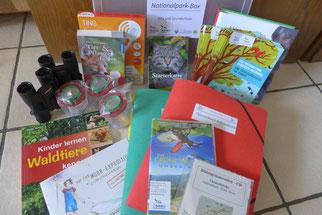 Inhalt der Nationalpark-Bildungsbox für die Grundschule