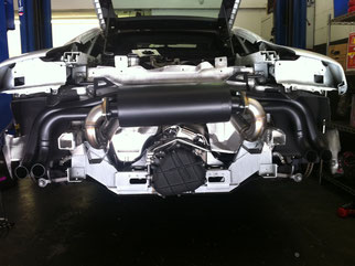 AUDI R8 EXHAUST INSTALLATION
