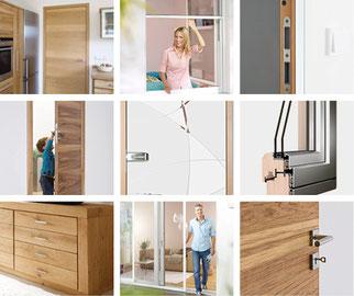 Haus Zimmer-Türen - Fliegengitter - Wintergärten - Holz Alu Kunststoff-Fenster