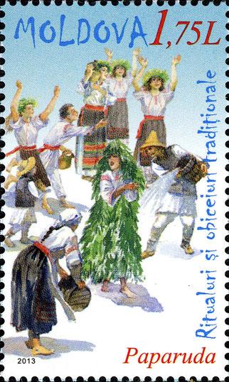Paparuda, francobollo moldavo