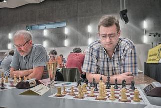 Reinhard Heimberger und Harry Casagrande, der die Schwächen von 3. De2 auslotet