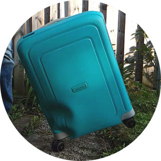 Falltest Samsonite S'Cure Test