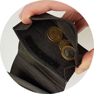 Fritzvold Slim Wallet, kleine Geldbörse mit Münzfach