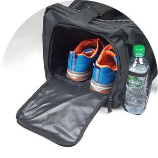 Sporttasche Schuhfach-Nassfach für große Schuhe