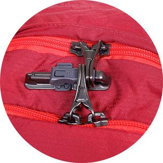 schloss für reißverschluss, abschließbarer rucksack
