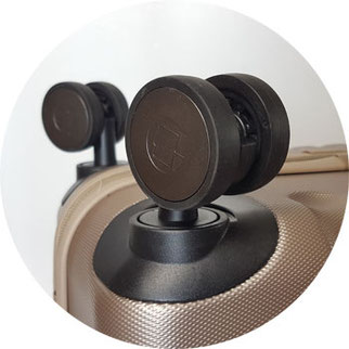 gummibeschichtete Doppelrollen mit 5,1 cm Durchmesser