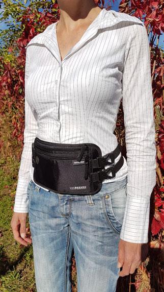 Bauchtsche flach, Van beeken, sichere Tasche
