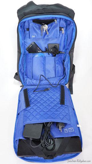 Rucksack zum aufklappen, rucksack aufklappbarem hauptfach