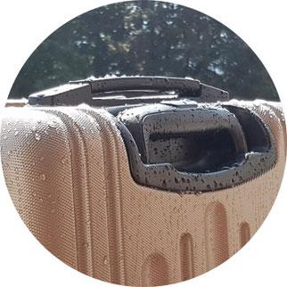 Hauptstadtkoffer Hartschalenkoffer nass