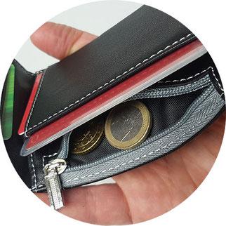 Travando Kartenetui mit Reißverschlussfach, Travando Geldbeutel