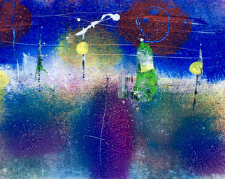 Le son indicible, 2016, tecnica mista, 16 x 13 cm