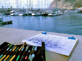 Kreativreisen Zeichnen auf La Palma