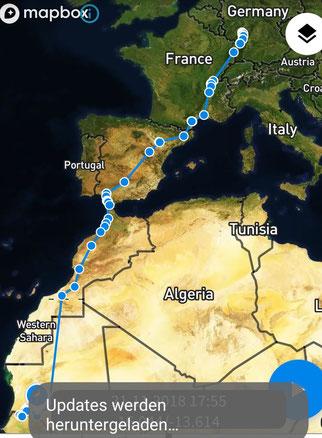 Rubi ist an der Grenze zwischen Senegal und Mauretanien.