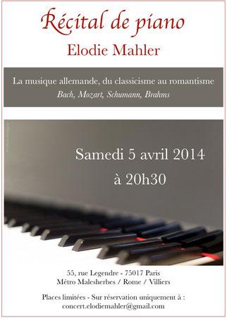 Concert Elodie Mahler