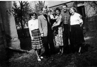 Elsa, Wilhelm, Falk,Lina ?, Hans und Ruth